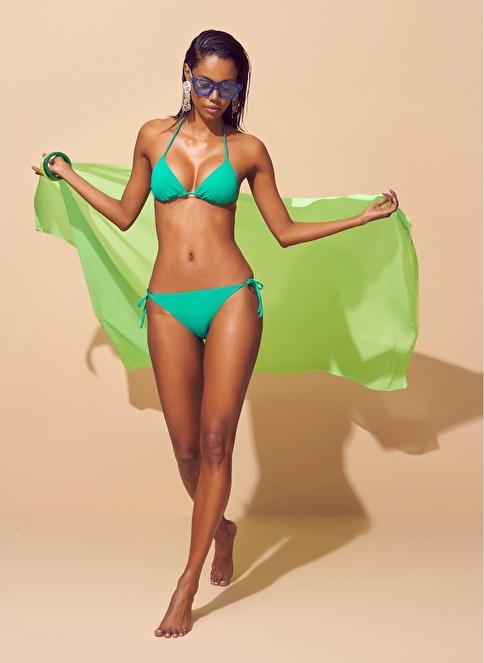 Loves You İp Askılı Üçgen Bikini Yeşil